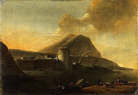 Thomas Wyck: Italienische Meeresbucht. Nach