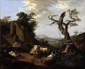 Johann Heinrich Roos: Italienische Landschaft