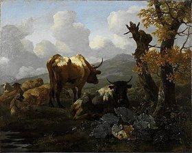 Willem Romeyn: Herde am Wasserloch, nach