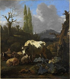 Willem Romeyn: Landschaft mit Herde. Nach