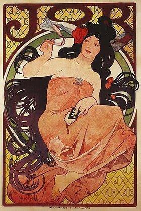 Alfons Mucha: 'Job'. 1898. Gedruckt von F. Champenois