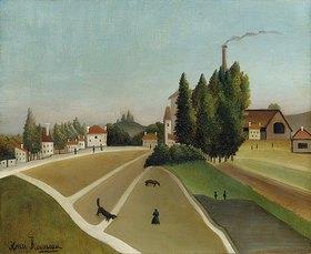Henri Rousseau: Landschaft mit Fabrik (Paysage avec usine)