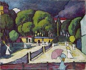 Adolf Erbslöh: Tennisplatz