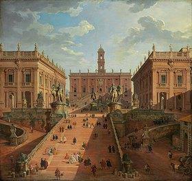 Giovanni Paolo Pannini: Blick auf das Kapitol in Rom
