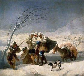 Francisco José de Goya: Der Winter (oder: Schneefall)
