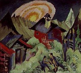 Ernst Ludwig Kirchner: Mondaufgang auf der Staffelalp