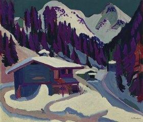 Ernst Ludwig Kirchner: Wildboden im Schnee