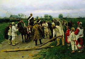 Wladimir J Makovskij: Der Hochzeitszug auf dem Dorf