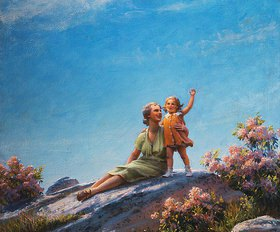 Charles Courtney Curran: Ein glücklicher Moment