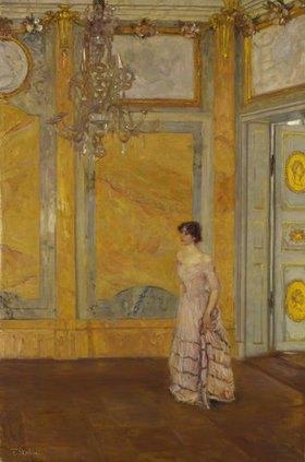 Franz Skarbina: Der gelbe Saal