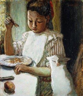 Pierre Bonnard: Kind mit Katze (L'Enfant au Chat)