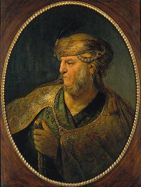 Rembrandt van Rijn: Bildnis eines Mannes in orientalischem Kostüm