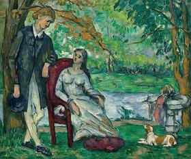 Paul Cézanne: Die Unterhaltung (La Conversation)