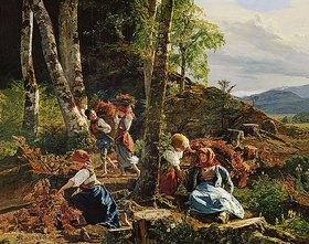 Ferdinand Georg Waldmüller: Reisigsammler im Wiener Wald