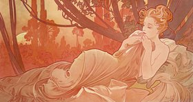 Alfons Mucha: Abenddämmerung (Crépuscule)