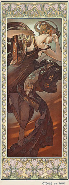 Alfons Mucha: Abendstern (Etoile du soir)