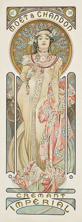 Alfons Mucha: Moët & Chandon: Dry Imperial