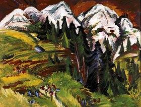Ernst Ludwig Kirchner: Landschaft auf der Staffelalp