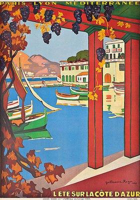 Guillaume G. Roger: Ein Werbeplakat für die Côte d'Azur