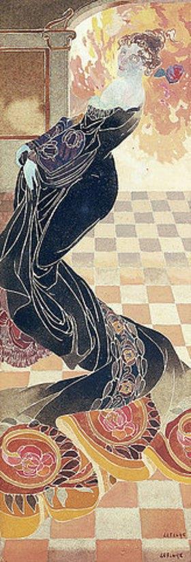Georges de Feure: Dame in einer schwarzen Robe