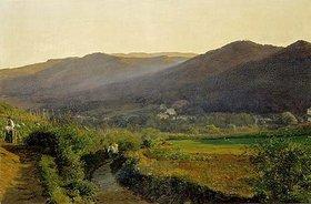 Ferdinand Georg Waldmüller: Landschaft mit Weinbergen