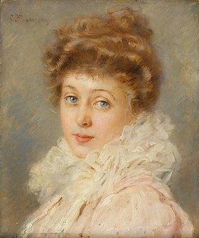 Constantin Makowsky: Portrait einer eleganten Dame