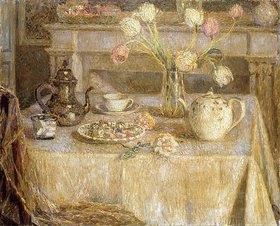 Henri Le Sidaner: Das weiße Tischtuch (La Nappe Blanche)