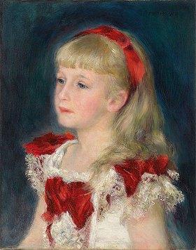 Auguste Renoir: Mademoiselle Grimprel mit rotem Haarband (Mademoiselle Grimprel au ruban rouge). Zwischen 1878 und