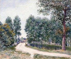 Alfred Sisley: Die Straße nach Saint-Mammes - Am Morgen (Le Chemin de Saint-Mammes - Le matin)