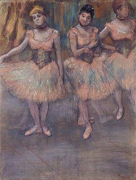 Edgar Degas: Drei Tänzerinnen vor dem Exercice (Trois Danseuses avant l'Exercice)