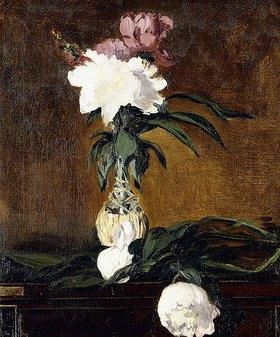 Edouard Manet: Pfingstrosen in einer Flasche (Pivoines dans une Bouteille)