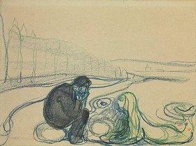 Edvard Munch: Wehmütiger Mann und Meerjungfau (Begegnung am Strand)