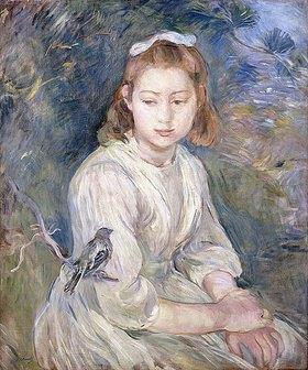 Berthe Morisot: Junges Mädchen mit einem Vogel (Petite Fille à l'Oiseau)