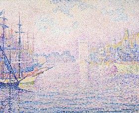 Paul Signac: Der Hafen von Marseille bei Morgenneben (Le port de Marseille, Brume Matinale)