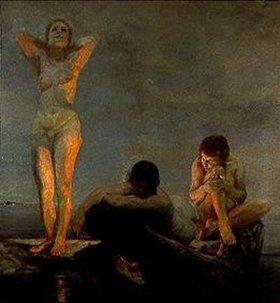 Max Klinger: Die blaue Stunde (vollendet 1890)