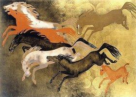 Jean Dunand: Tänzelnde Pferde