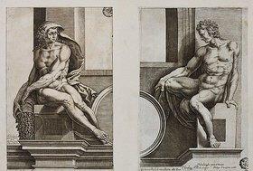 Cherubino Alberti: Ignudo (nach Michelangelo's dem Deckenfresko in der Sixtina)