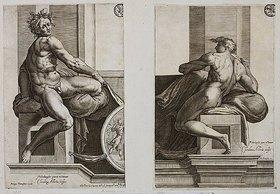 Cherubino Alberti: Ignudo (nach Michelangelo's Deckenfresko in der Sixtina)