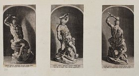 Lucas Kilian: Simon mit 2 Philistern. (nach Michelangelo)