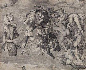 Niccolo della Casa: Sturz der Verdammten. (nach Michelangelo)