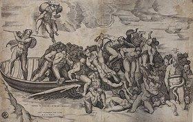 Niccolo della Casa: Verdammte in der Hölle. (nach Michelangelo)