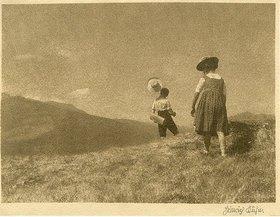 Heinrich Kühn: Ohne Titel (Landschaft mit Wanderern)