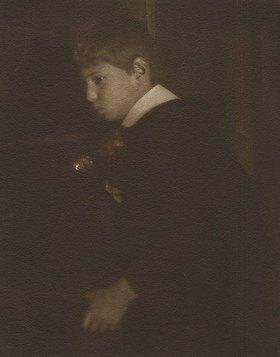 Heinrich Kühn: Ohne Titel (Portrait Walther Kühn). Ca. 1907.