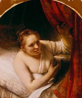 Rembrandt van Rijn: Sarah erwartet Tobias in der Hochzeitsnacht. 164(.)