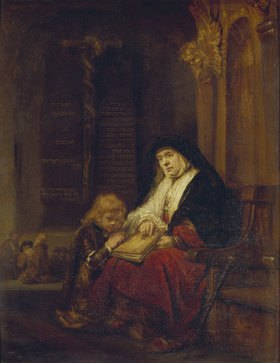 Rembrandt van Rijn: Die Prophetin Hannah im Tempel, Samuels Gebet abhörend. 16(50)