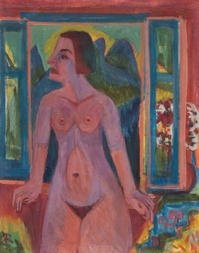 Ernst Ludwig Kirchner: Nackte Frau am Fenster