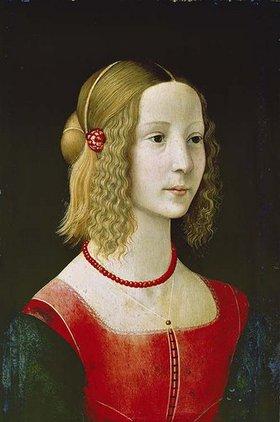 Domenico(T.Bigordi) Ghirlandaio: Bildnis eines jungen Mädchens. Wohl