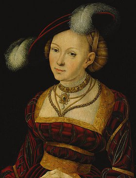 Lucas Cranach d.Ä.: Weibliche Heilige mit Federhut