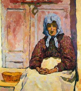 Giovanni Giacometti: Bäuerin mit Kopftuch
