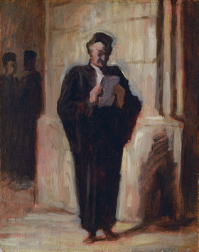 Honoré Daumier: Lesender Advokat